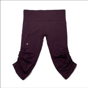 Lululemon In The Flow Crop II Black Cherry